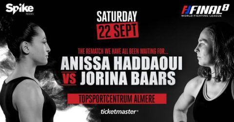 [Nieuws] rematch Jorina Baars vs. Anissa Haddaoui tijdens Spike presents: WFL Final 8