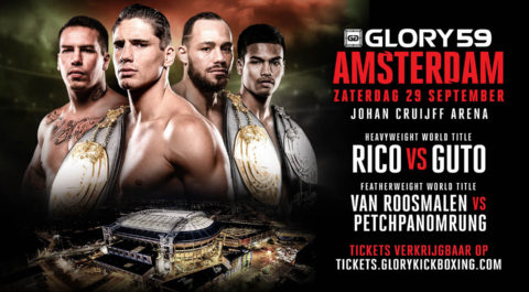 [NIEUWS] FIGHT CARD GLORY 59 JOHAN CRUIJFF ARENA